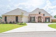 European Style House Plan - 3 Beds 2 Baths 1945 Sq/Ft Plan #430-90 Exterior - Front Elevation