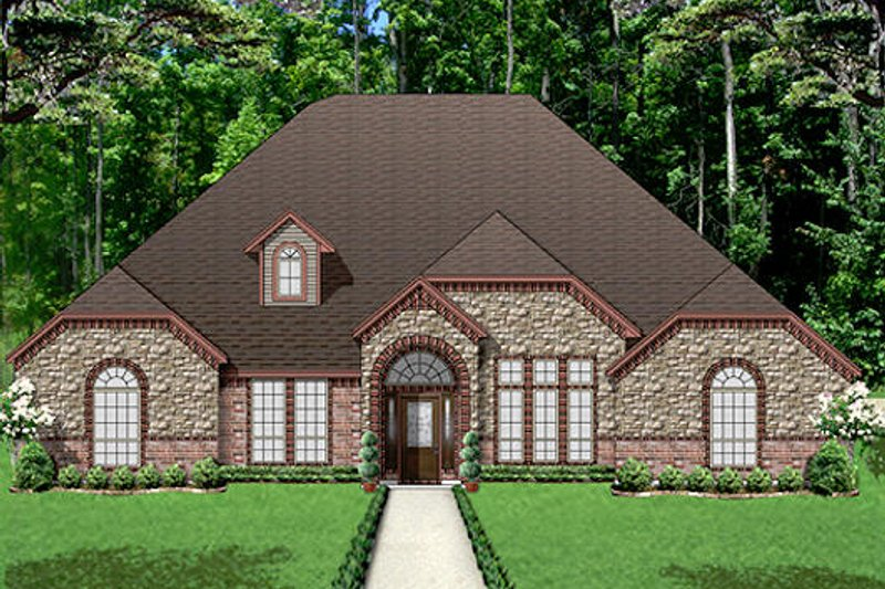 European Exterior - Front Elevation Plan #84-532