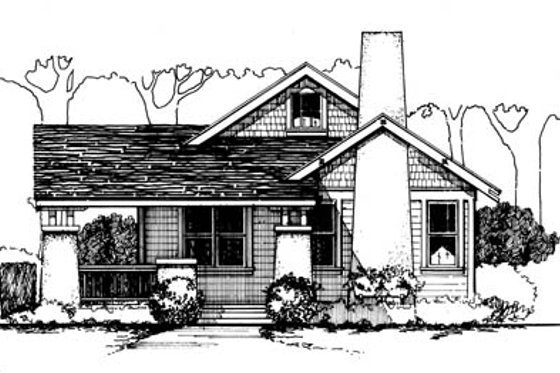 Cottage Exterior - Front Elevation Plan #43-104