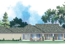 Dream House Plan - Classical Exterior - Rear Elevation Plan #930-80
