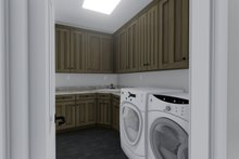 Mediterranean Interior - Laundry Plan #1060-29