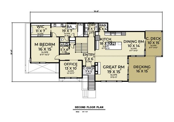 Dream House Plan - Contemporary Floor Plan - Upper Floor Plan #1070-136