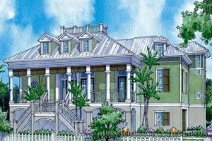 Country Exterior - Front Elevation Plan #930-89