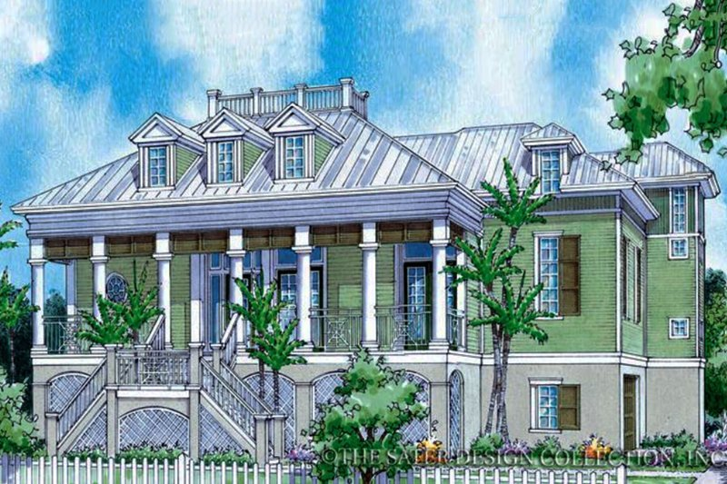 Architectural House Design - Country Exterior - Front Elevation Plan #930-89
