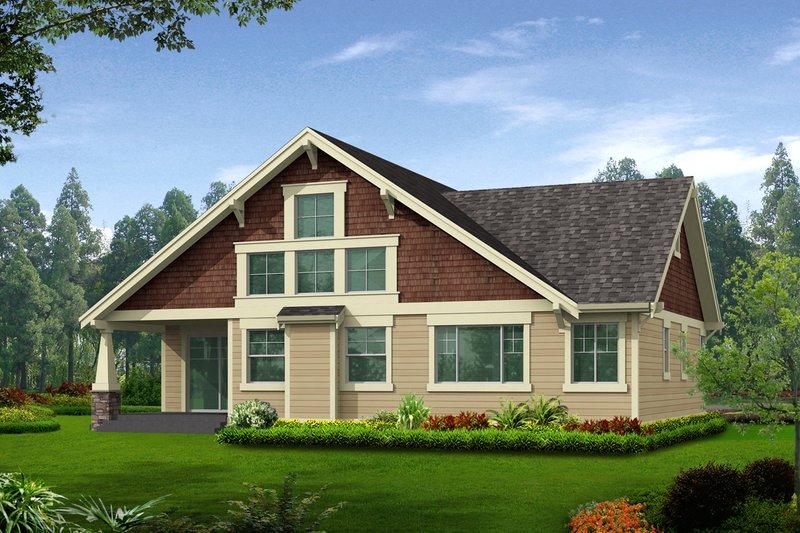Craftsman Exterior - Rear Elevation Plan #132-198 - Houseplans.com