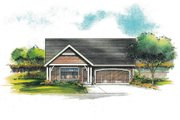 Craftsman Style House Plan - 3 Beds 2 Baths 1252 Sq/Ft Plan #53-601