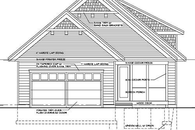 Craftsman Exterior - Rear Elevation Plan #51-346 - Houseplans.com