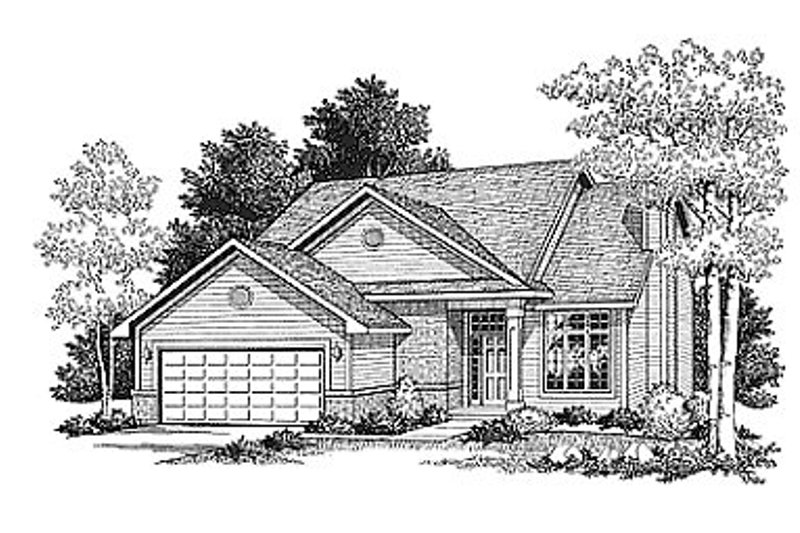 Traditional Style House Plan - 4 Beds 2.5 Baths 1683 Sq/Ft Plan #70-170