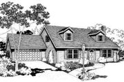 Traditional Style House Plan - 3 Beds 2 Baths 1895 Sq/Ft Plan #303-110 Exterior - Front Elevation
