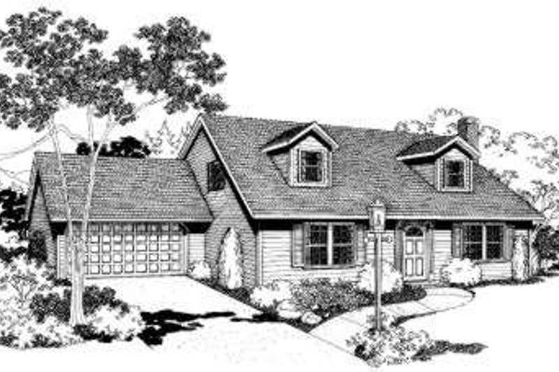 Traditional Style House Plan - 3 Beds 2 Baths 1895 Sq/Ft Plan #303-110