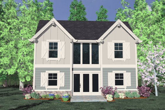Traditional Exterior - Front Elevation Plan #509-16
