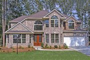Traditional Style House Plan - 4 Beds 3.5 Baths 3309 Sq/Ft Plan #456-26 Exterior - Front Elevation