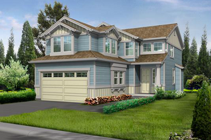 Craftsman Exterior - Front Elevation Plan #132-107