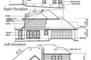 European Style House Plan - 3 Beds 2.5 Baths 2209 Sq/Ft Plan #15-235 Exterior - Rear Elevation