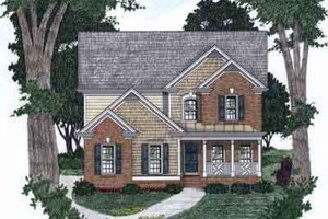 Southern Exterior - Front Elevation Plan #129-133