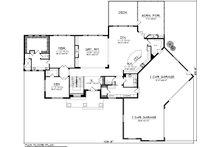 Traditional Floor Plan - Main Floor Plan Plan #70-1147