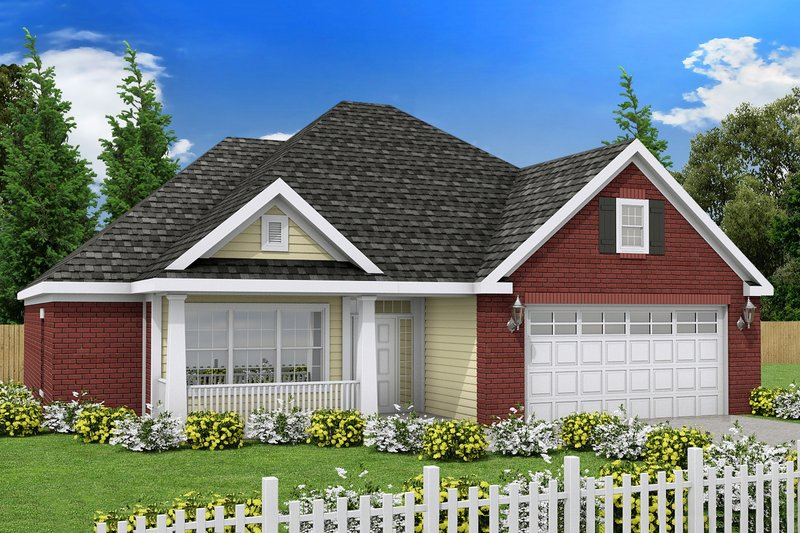 Traditional Exterior - Front Elevation Plan #20-369 - Houseplans.com