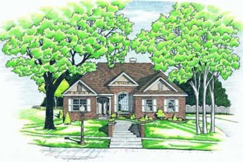 Traditional Exterior - Front Elevation Plan #20-649 - Houseplans.com