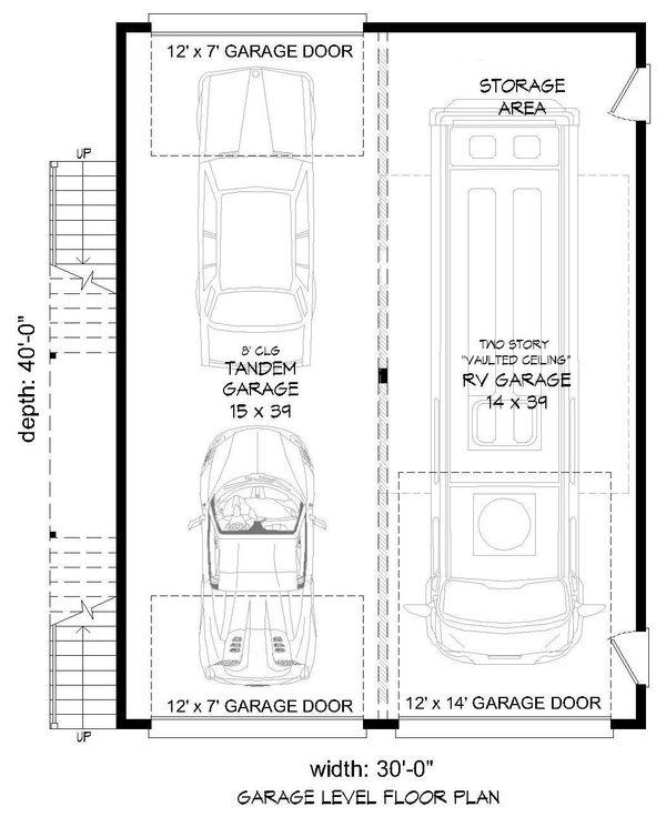 Contemporary Floor Plan - Lower Floor Plan Plan #932-71