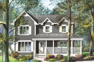 Country Exterior - Front Elevation Plan #25-4412