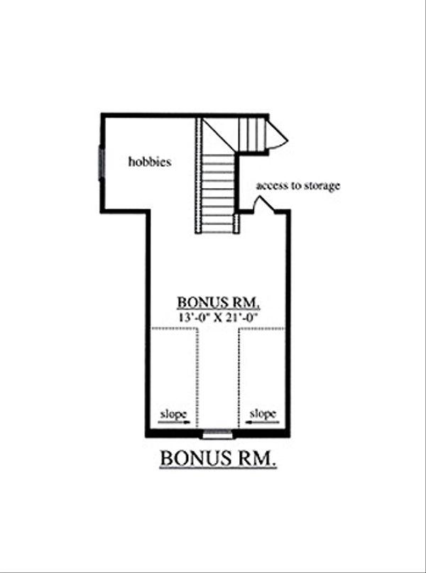 Country Floor Plan - Other Floor Plan Plan #42-387