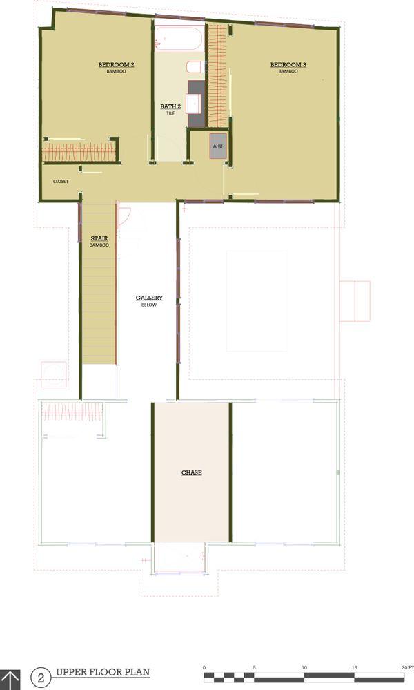 Modern Style House Plan - 3 Beds 2.5 Baths 1693 Sq/Ft Plan #450-5 Floor Plan - Upper Floor Plan