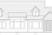 Traditional Style House Plan - 3 Beds 3.5 Baths 2971 Sq/Ft Plan #51-436 Exterior - Rear Elevation