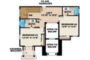 Mediterranean Style House Plan - 4 Beds 4 Baths 3012 Sq/Ft Plan #27-445 Floor Plan - Upper Floor Plan