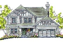Home Plan Design - Cottage Exterior - Front Elevation Plan #20-2033