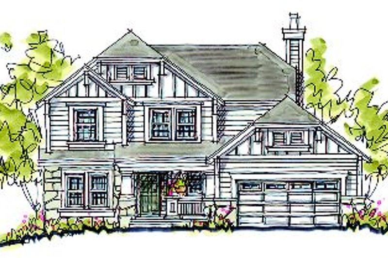 Home Plan - Cottage Exterior - Front Elevation Plan #20-2033