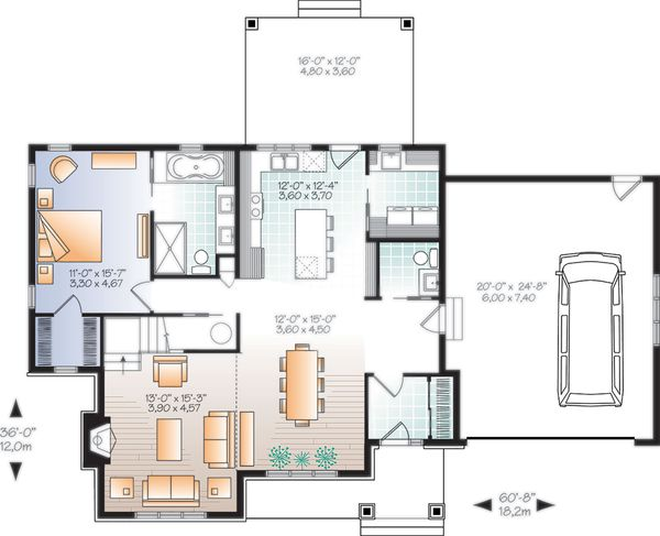 Architectural House Design - Farmhouse Floor Plan - Main Floor Plan #23-2732