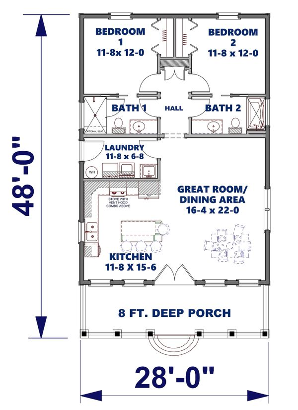 Dream House Plan - Traditional Floor Plan - Main Floor Plan #44-245