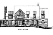 Traditional Style House Plan - 5 Beds 4.5 Baths 4416 Sq/Ft Plan #419-123 Exterior - Other Elevation