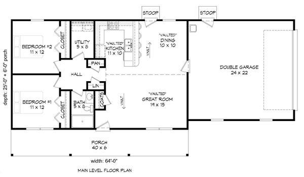 Dream House Plan - Cottage Floor Plan - Main Floor Plan #932-328