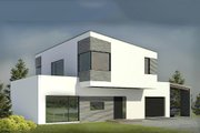 Modern Style House Plan - 3 Beds 2 Baths 2169 Sq/Ft Plan #906-3 Exterior - Rear Elevation
