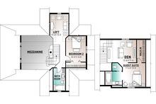 Traditional Floor Plan - Upper Floor Plan Plan #23-422