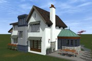 Traditional Style House Plan - 3 Beds 2.5 Baths 1706 Sq/Ft Plan #933-2 Exterior - Outdoor Living
