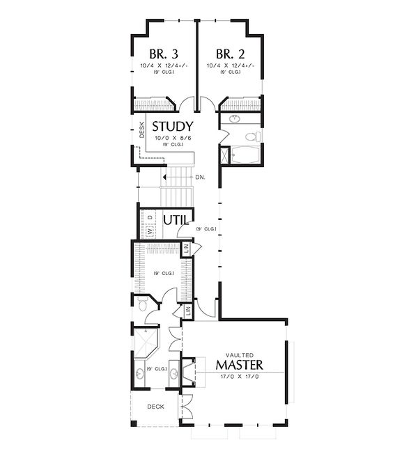 Cottage Floor Plan - Upper Floor Plan Plan #48-265