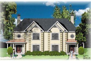 European Exterior - Front Elevation Plan #26-213