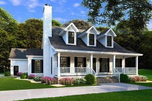Home Plan Design - Farmhouse Exterior - Front Elevation Plan #923-100