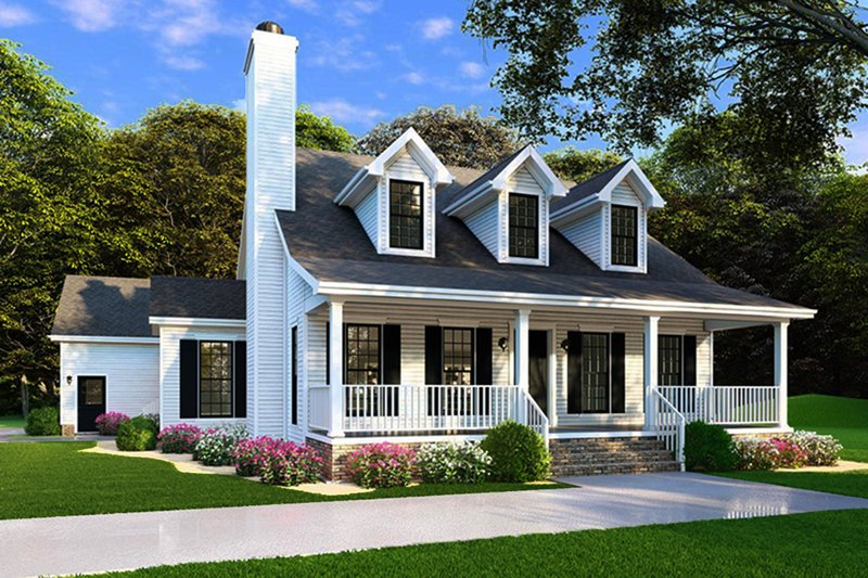 Dream House Plan - Farmhouse Exterior - Front Elevation Plan #923-100
