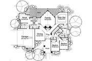 Prairie Style House Plan - 3 Beds 2 Baths 1830 Sq/Ft Plan #120-150 Floor Plan - Main Floor