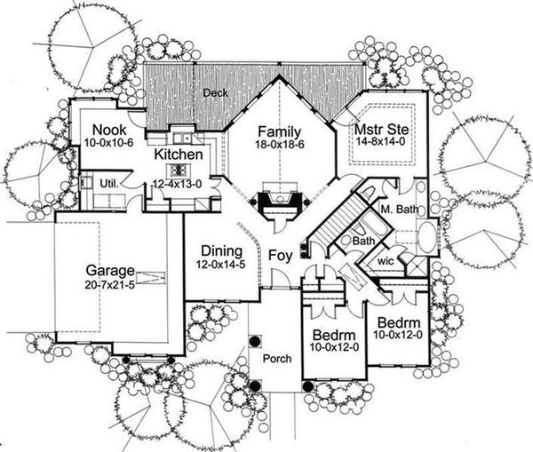 Prairie Floor Plan - Main Floor Plan Plan #120-150