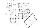 European Style House Plan - 5 Beds 5.5 Baths 6020 Sq/Ft Plan #48-365 Floor Plan - Main Floor