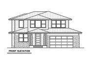 Contemporary Style House Plan - 3 Beds 2.5 Baths 2665 Sq/Ft Plan #1070-18 Exterior - Front Elevation