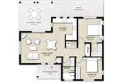 Cabin Style House Plan - 2 Beds 1 Baths 880 Sq/Ft Plan #924-9 Floor Plan - Main Floor Plan