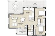 Cabin Style House Plan - 2 Beds 1 Baths 880 Sq/Ft Plan #924-9 Floor Plan - Main Floor