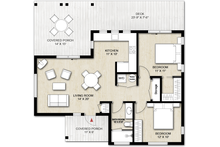 Cabin Floor Plan - Main Floor Plan Plan #924-9
