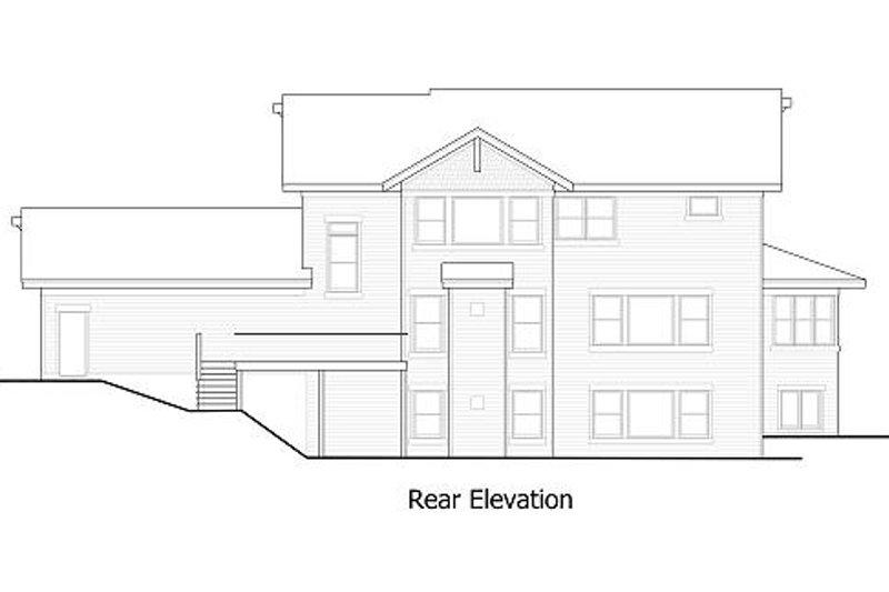 Craftsman Exterior - Rear Elevation Plan #51-367 - Houseplans.com