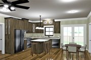 Ranch Style House Plan - 3 Beds 2 Baths 1311 Sq/Ft Plan #44-239 Interior - Kitchen